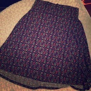 LULAROE AZURE Silky smooth patterned skirt